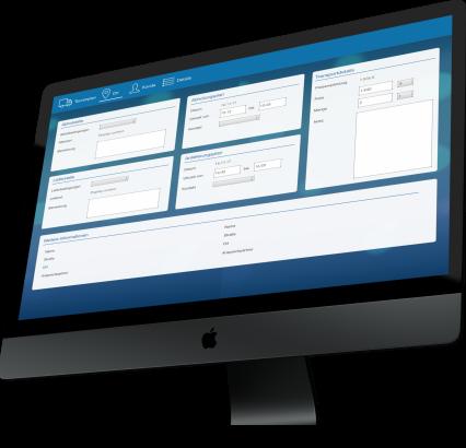 Transport Software Desktop Anwendung